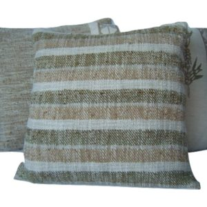 cushion cover, wild silk, Kalahari, natural dyes, stripes, eco friendly