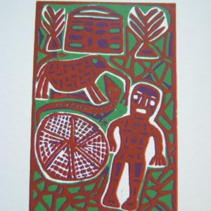lino cut, freciano, san art, colour
