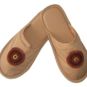 Slippers, South Africa, beading, hand stitched, cotton