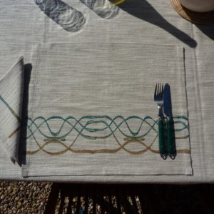 placemats, Namibia, African, hand painted, plant based dyes, Dune Kiss