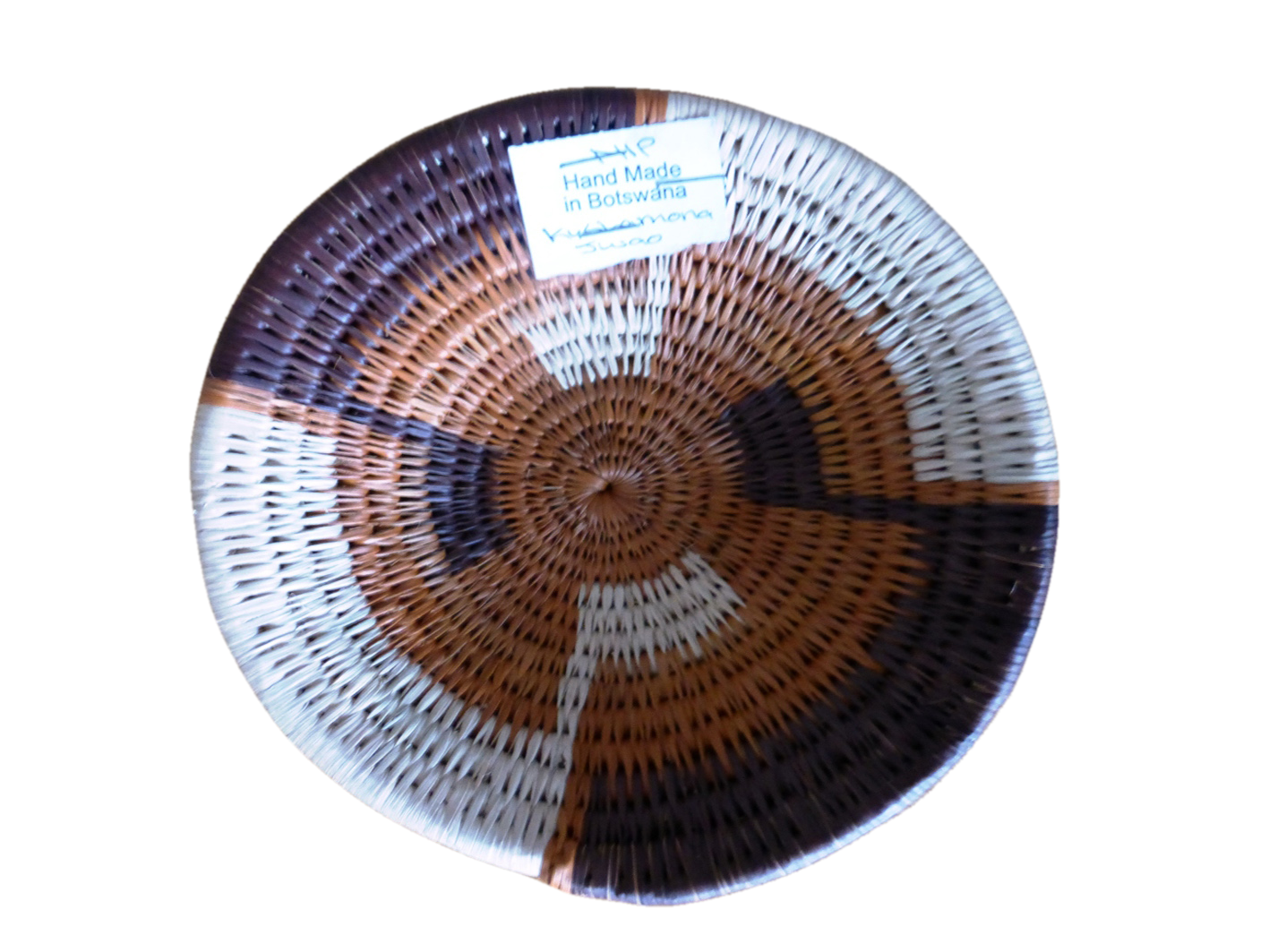 woven basket, African. Size small