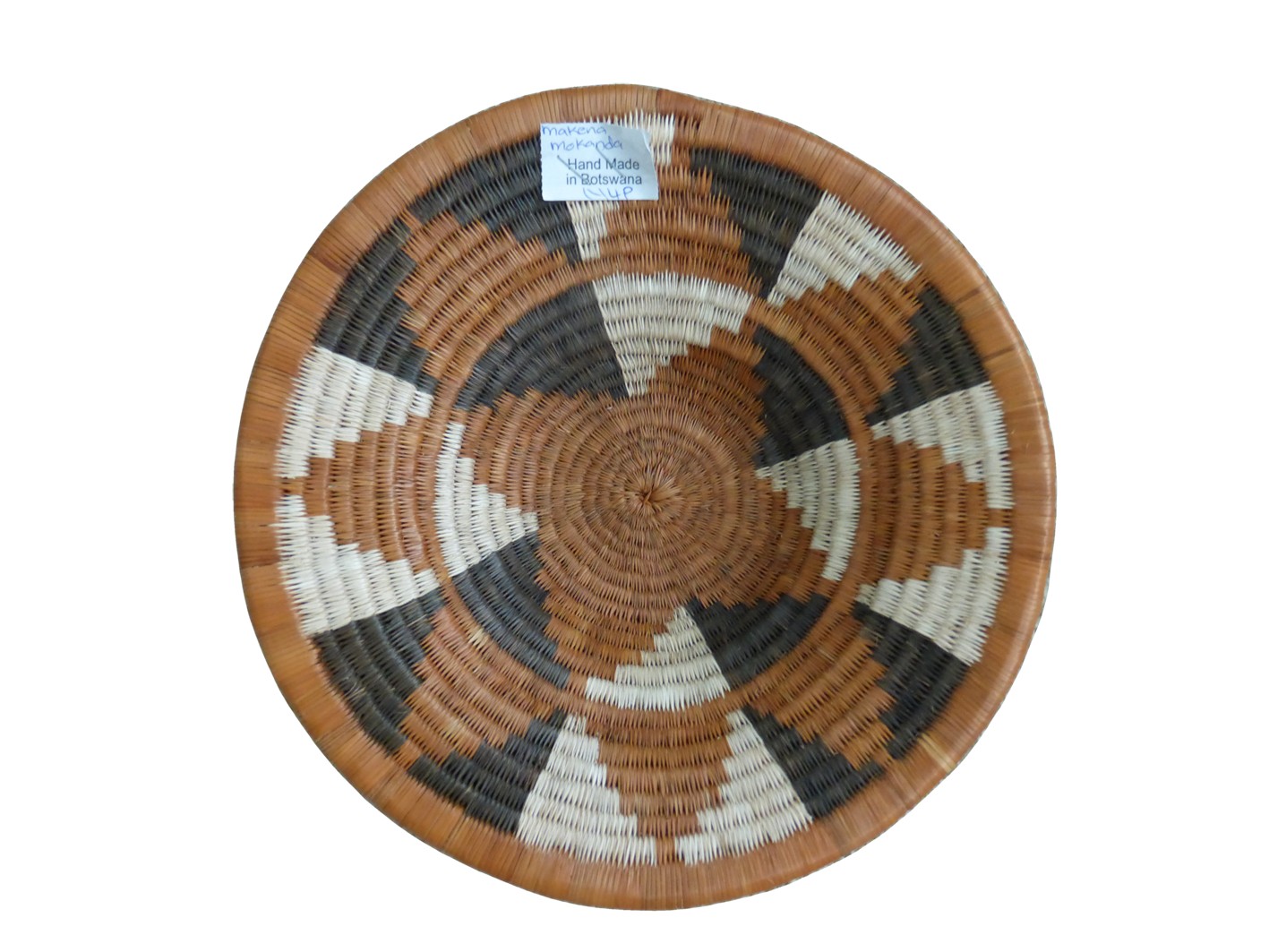 hand woven open basket made in Africa