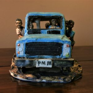 African, art, sculpture, ceramic, hand made, Malawi, 4x4, mud