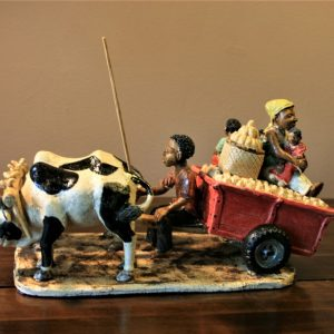 African, art, sculpture, ceramic, hand made, Malawi, Ox cart