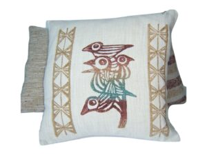 African Birds, cushion covers, hand painted, natural dyes, Namibia
