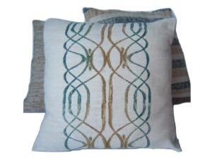 cushion covers, Dunes Bluegrass, Namibia, hand painted, natural dyes