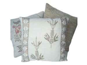 cushion covers, wheat ear, Namibia, hand painted, natural dyes