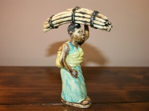 African, art, ceramic, sculpture, ahnd made, malawi, lady, wood